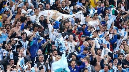 La hinchada argentina volverá a entonar el clásico jingle en este Mundial (NA)
