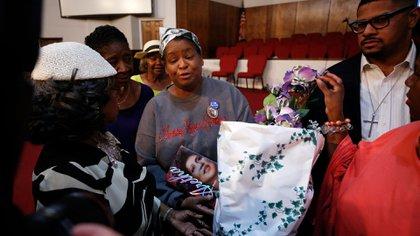 La iglesia bautista donde se hizo la vigilia fue el lugar donde Aretha Franklin dio sus primeros pasos como cantante (AFP)