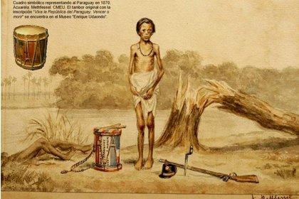 """""""Viva la República del Paraguay. Vencer o Morir"""", de Adolfo Methfessel (Museo Roca, Historia Visual Argentina N°48)"""