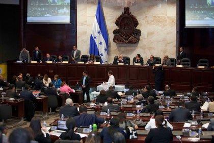 Vista general del Parlamento de Honduras en Tegucigalpa
