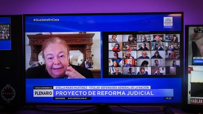 Stella Maris Martínez, Defensora Federal de la Nación ( Fotos: DELFINA LINARES / Comunicación Senado).