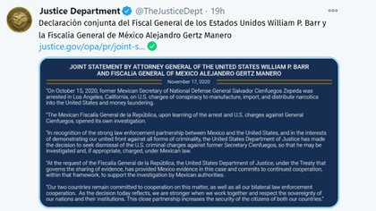 (Foto: Twitter/TheJusticeDept)