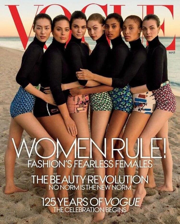 La portada de marzo de la revista Vogue con las figuras que revolucionan la industria, polémica por el photoshop a Ashley Graham