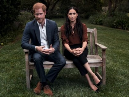 Meghan Markle y el príncipe Harry para la revista Time