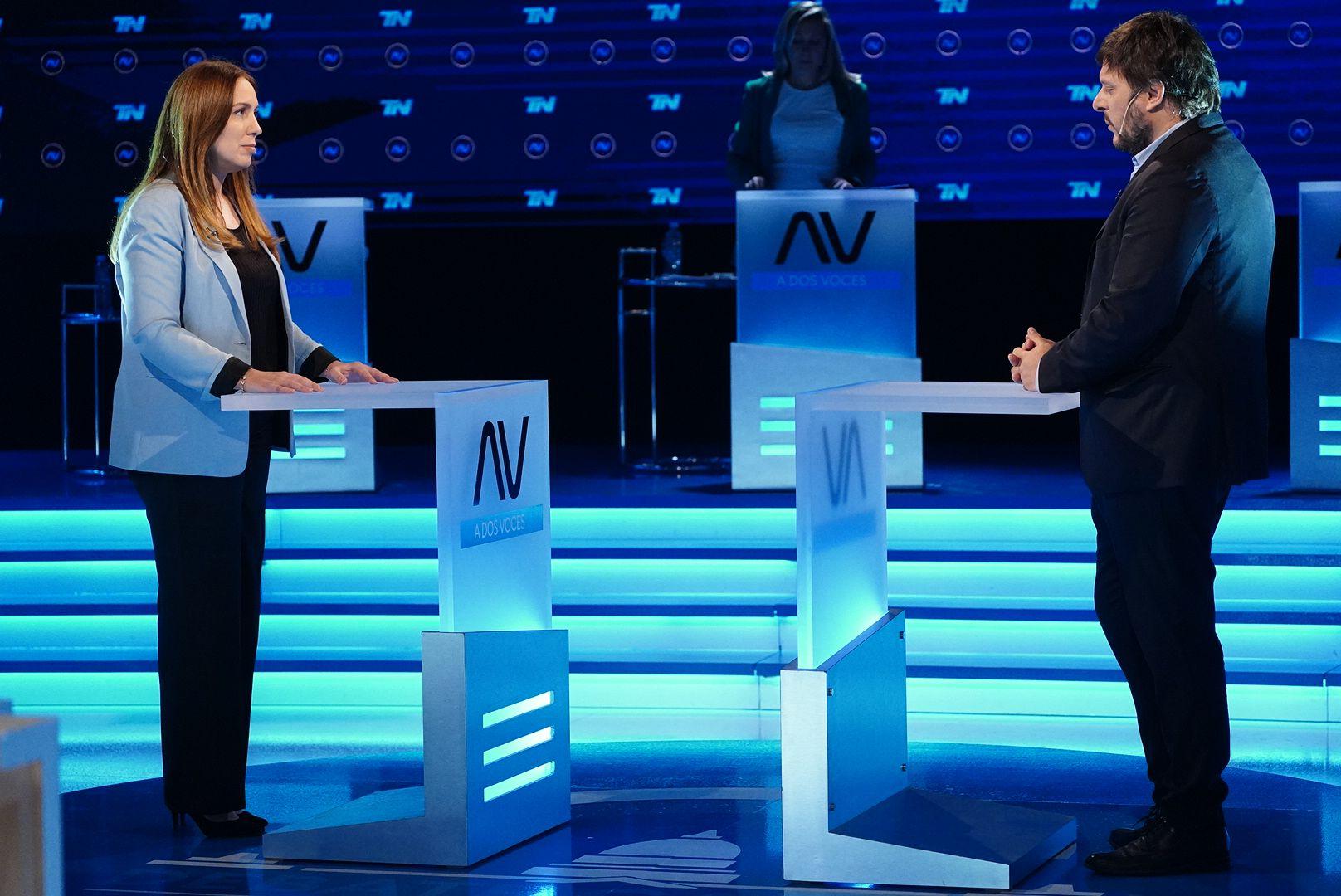 Debate Milei, Vidal, Santoro y Bregman