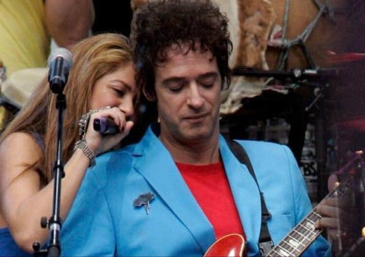 Shakira compartió esta imagen en su Instagram en 2018, para recordar a Cerati en su cumpleaños