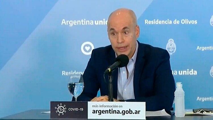 El jefe de Gobierno porteño, Horacio Rodríguez Larreta.