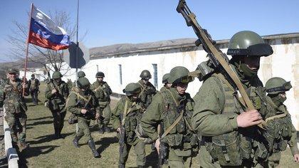 Tropas rusas desplegadas en Crimea (AFP)