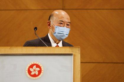 El presidente del Tribunal de apelación de Hong Kong, Geoffrey Ma, en su última rueda de prensa antes de jubilarse. (REUTERS/Tyrone Siu)