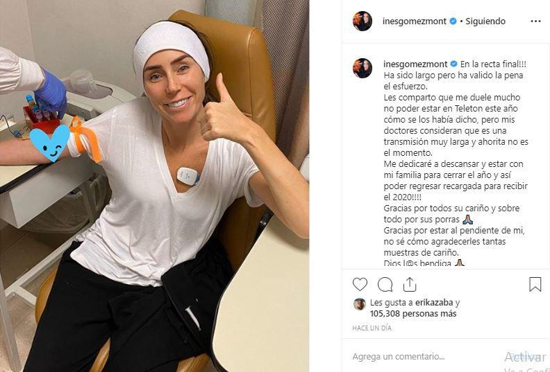 Pero a pesar de su entusiasmo, ahora la ojiverde se disculpó en Instagram por su ausencia y mencionó que por recomendación de sus médicos debe aplazar su regreso a la pantalla mexicana. (Foto: Instagram)