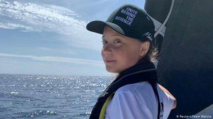 Para llegar a la Cumbre del Clima en Madrid, Greta cruzó el océano Atlántico a bordo de un catamarán (Reuters)