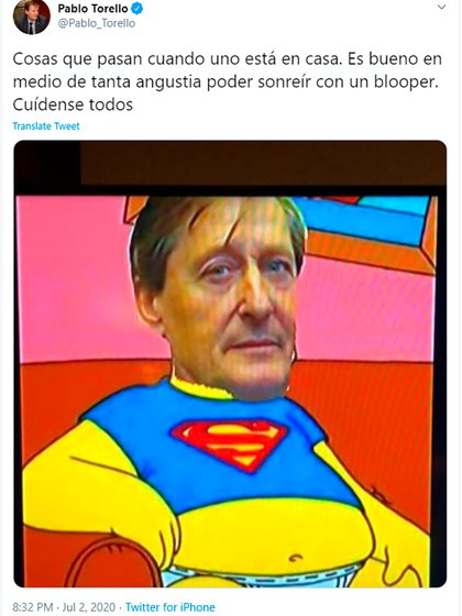 Uno de los memes que se burlaron de Torello fue compartido por el propio diputado