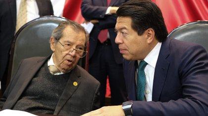Mario Delgado llamó a su contrincante a que siguieran haciendo historia como trabajaron en la Cámara de Diputados (Foto: Cuartoscuro)