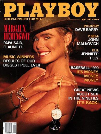 Margaux Hemingway en Playboy en mayo de 1990