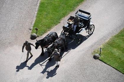 El carruaje en el castillo de Windsor