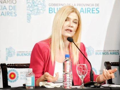 La vicegobernadora Magario hizo referencia al bajo nivel de deuda para el 2021