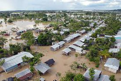 Inundaciones en La Mojana. Foto: Agencia de Noticias Universidad Nacional de Colombia.