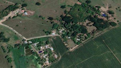 Una vista aérea de la hacienda El Ubérrimo (Google maps)