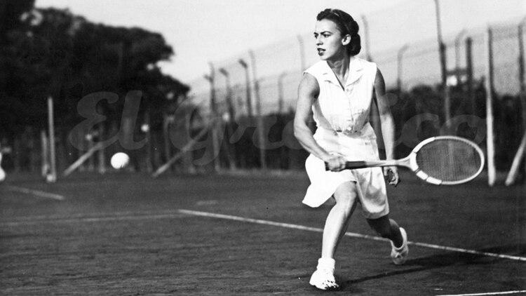 """Audaz, talentosa, apasionada, quiso promover el """"deporte blanco""""en el país (Foto: El Gráfico - Archivo Tea y Deportea)"""