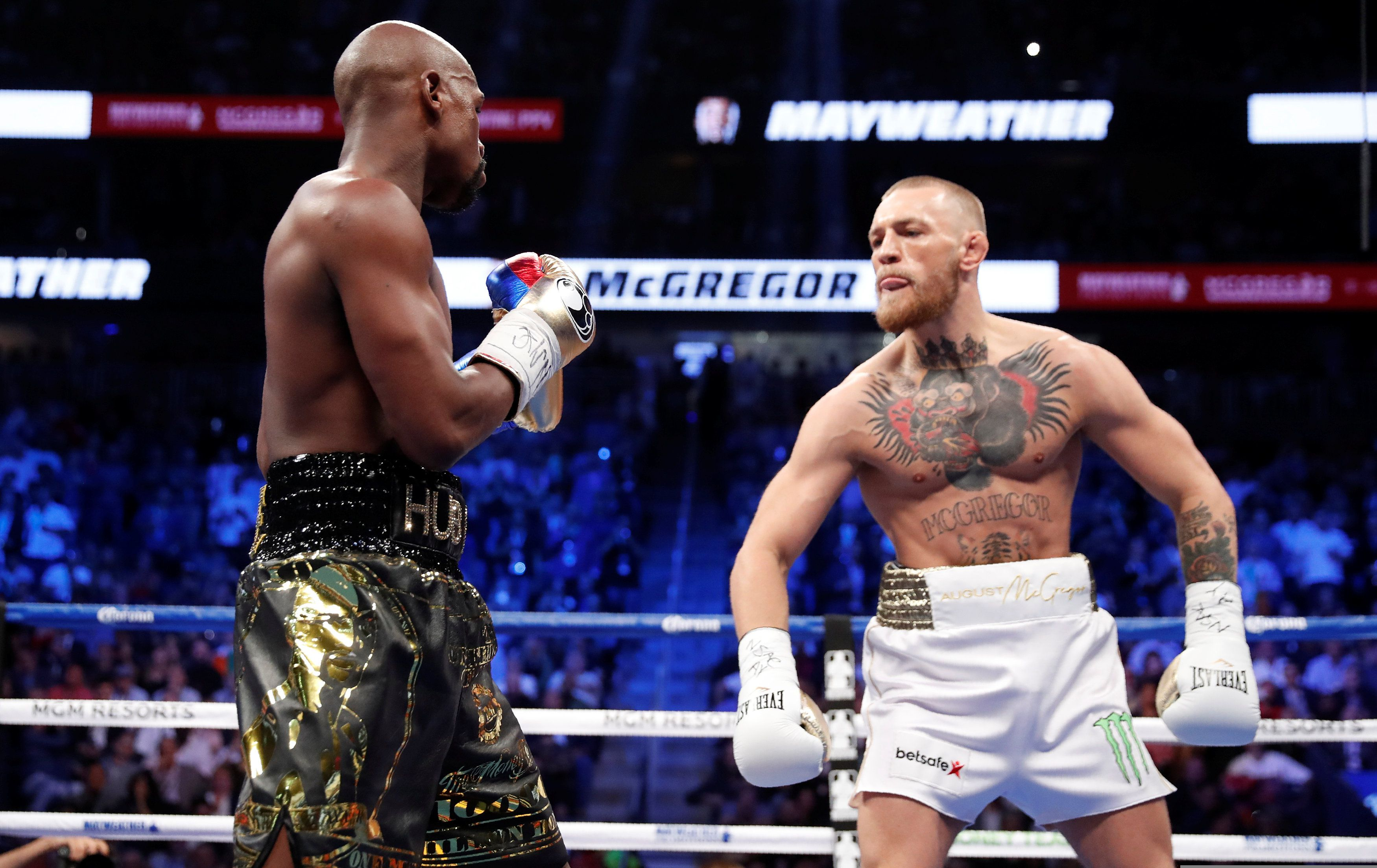 McGregor peleó en 2017 ante Mayweather (REUTERS/Steve Marcus/File Photo)