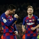 Soccer Football - La Liga Santander - FC Barcelona v RCD Mallorca - Camp Nou, Barcelona, Spain - December 7, 2019 Barcelona's Lionel Messi celebrates scoring their third goal REUTERS/Albert Gea