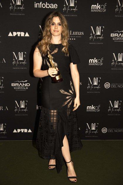 Chiara Parravicini recibió el premio de APTRA a la mejor cantante femenina
