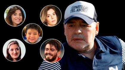 Diego Junior, Dalma, Gianinna, Jana y Dieguito Fernando, los hijos legítimos de Diego Maradona