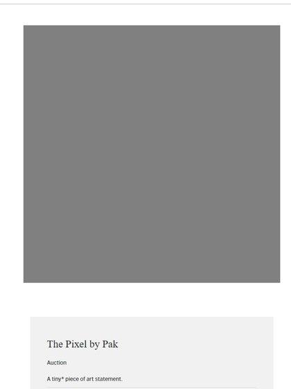 The Pixel, la obra de Pak que se vendió por 1,36 millones de dólares (Sotheby's en niftygateway.com)