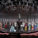 Models wear creations as part of Gucci's Fall/Winter 2020/2021 collection, presented in Milan, Italy, Wednesday, Feb. 19, 2020. (AP Photo/Luca Bruno)
