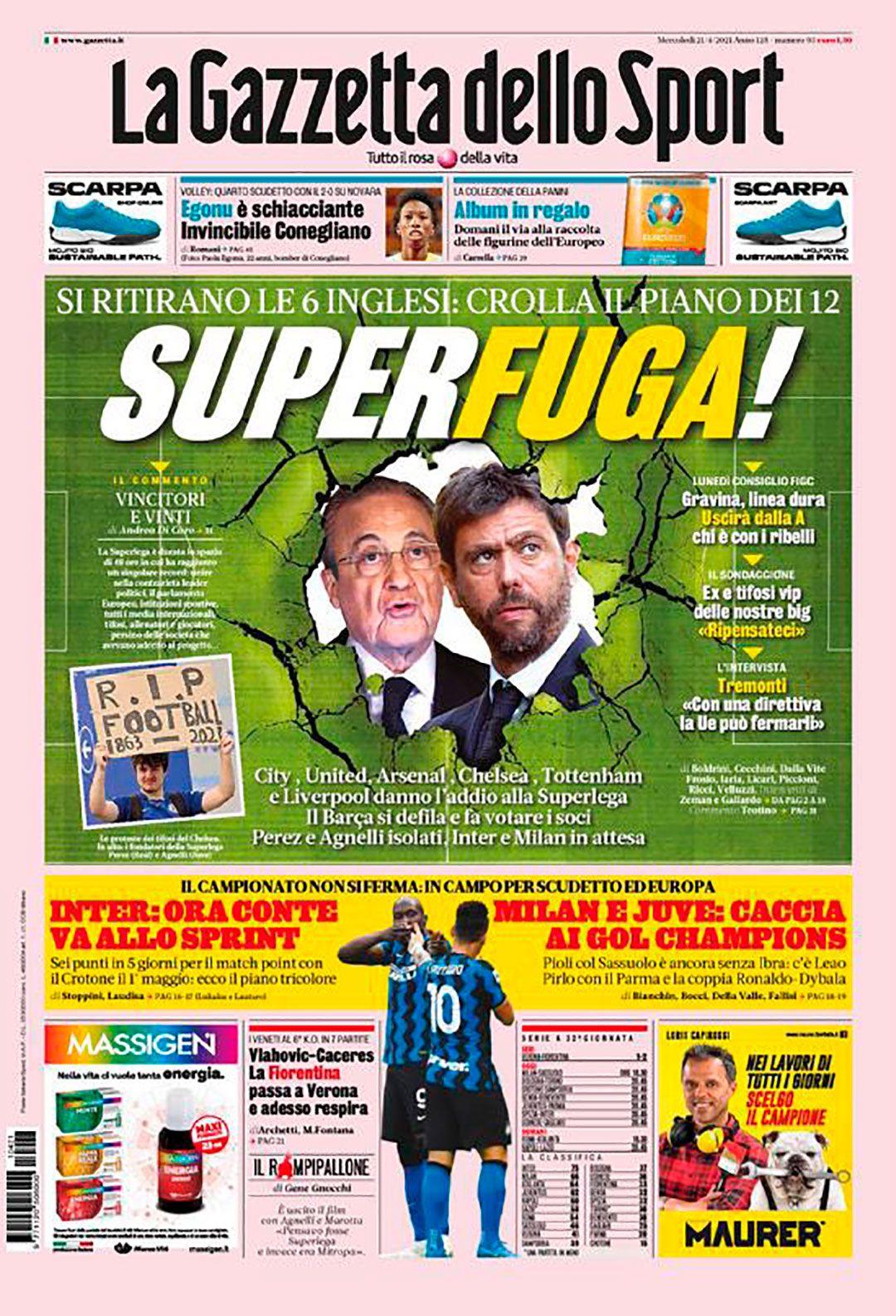 portadas de Europa por la estampida de equipos de la Superliga