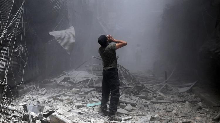 Bombardeo en Siria (AFP)