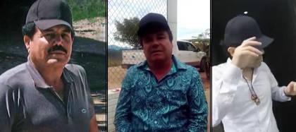 """Foto de izquierda a derecha: Ismael """"el Mayo"""" Zambada, """"el Chapo"""" Guzmán, y Ovidio Guzmán, hijo del """"Chapo"""" (Foto: Especial)"""