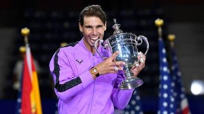 Rafael Nadal tiene 19 títulos de Grand Slam y su último trofeo de este calibre lo obtuvo al ser campeón del US Open 2019 (USA TODAY Sports)