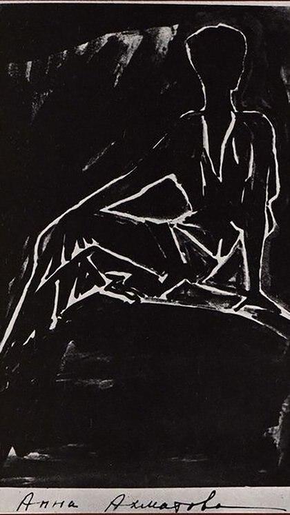 Ana Ajmátova, por Nina Kogan