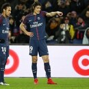 PARIS FRANCE - JANUARY 17: Neymar Jr and Edinson Cavani of PSG during the French Ligue 1 match between Paris Saint Germain (PSG) and Dijon FCO at Parc des Princes stadium on January 17, 2018 in Paris, France. (Photo by Jean Catuffe/Getty Images)