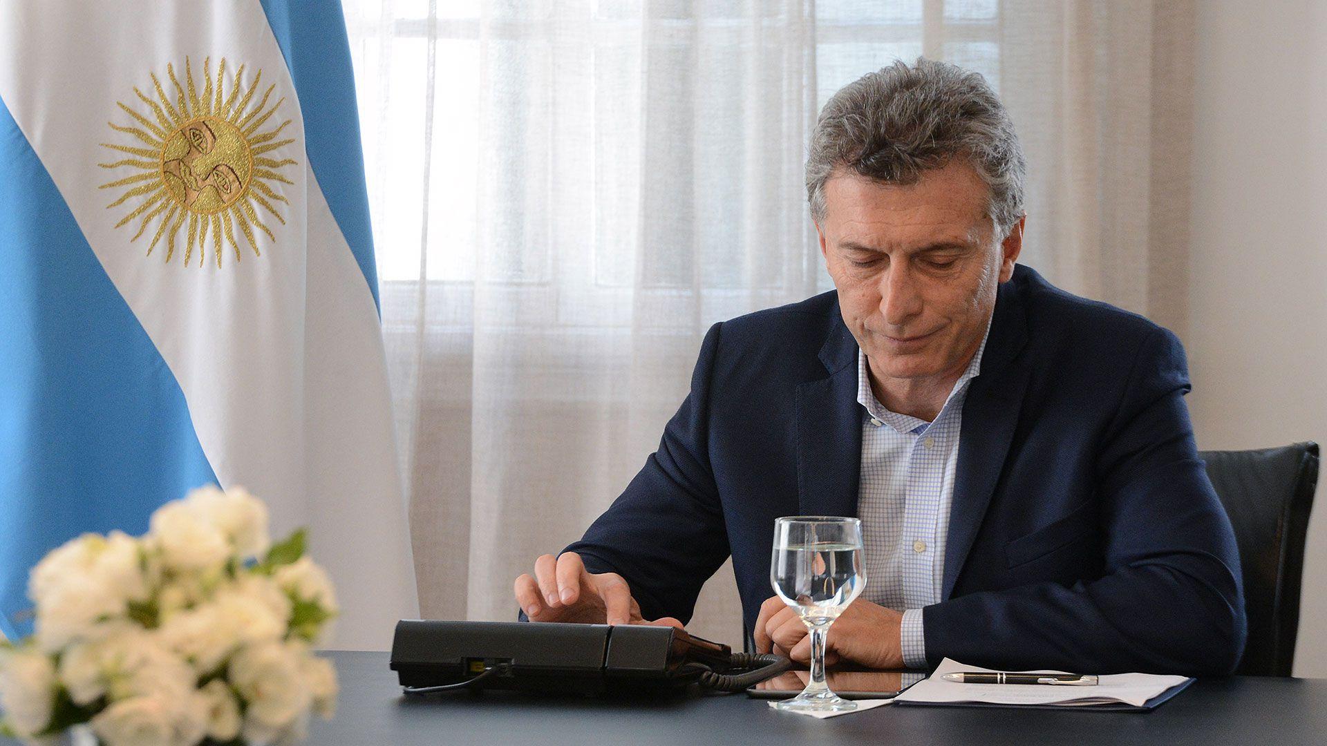 Mauricio Macri llamó a una periodista decepcionada por el resultado de las PASO (foto archivo)