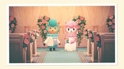 Animal Crossing: New Horizons celebró un evento de bodas en 2020 (Foto: Captura)