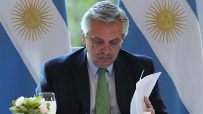 Alberto Fernández, mandatario de Argentina (Presidencia)