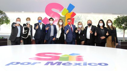 Yes for Mexico brought together the PRI, PAN and PRD in its Citizen Convention (Photo: Courtesy PRD)