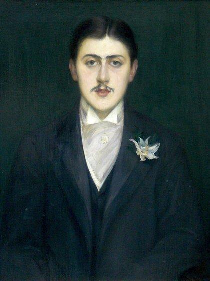 Retrato de Marcel Proust a los 21 años de edad, por el pintor Jacques Emile Blanche.