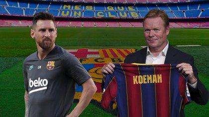 Messi y Koeman: ¿trabajarán juntos por el bien del Barcelona en la próxima temporada?