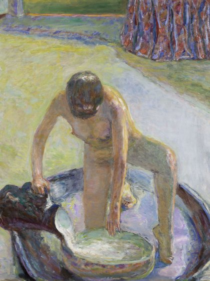 """Nude Crouching in the Tub"", 1918"