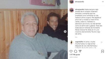 El mensaje con el que el actor despidió a su padre (Foto: Instagram)
