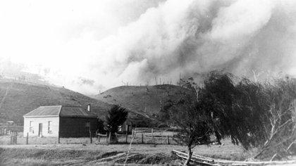 """El primer """"black friday"""" no fue una jugada de marketing. El viernes 13 de enero de 1939 buena parte de Australia ardió en llamas"""