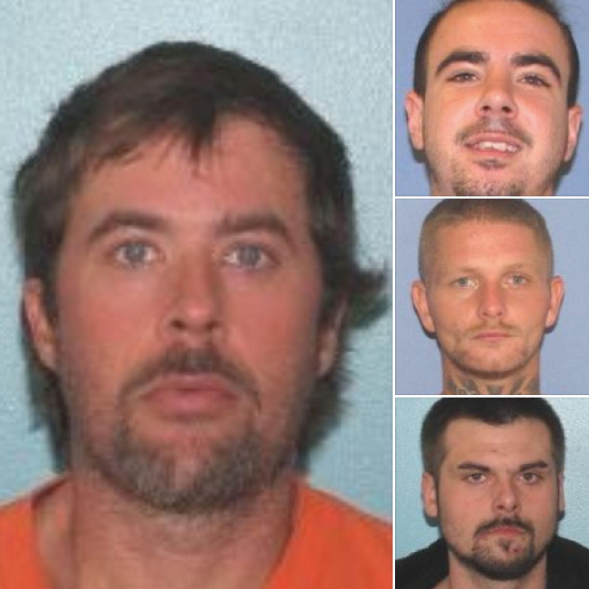 Los cuatro criminales que se fugaron (Foto: Gallia County Sheriff)