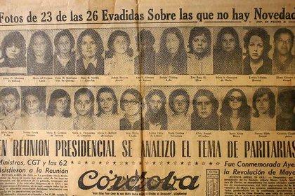La fuga, en el diario Crónica (1975)