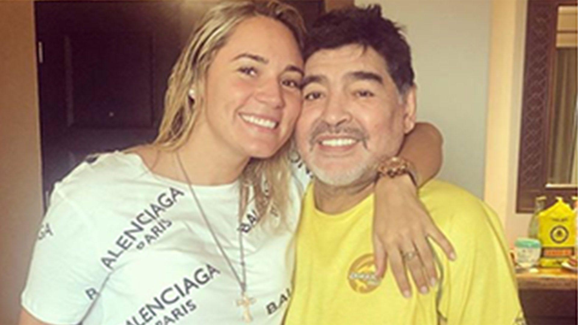 Rocio Oliva y Diego Maradona en sus tiempos felices