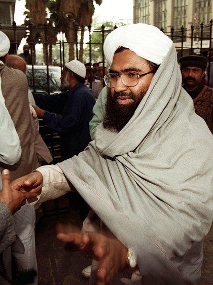 Azhad era ya un reconocido terrorista paquistaní cuando creó el grupo en 2000 (Aamir QURESHI / AFP)