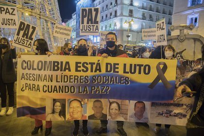 Since the signing of the peace agreement with the former FARC guerrilla in 2016, 1,128 social leaders have been assassinated in Colombia.  Photo: ALBERTO SIBAJA / ZUMA PRESS / CONTACTOPHOTO