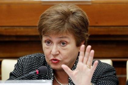 La directora gerente del FMI, Kristalina Georgieva, endureció el tono de su discurso hacia la Argentina